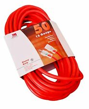 50 Ft 12 Gauge Extension Cord UL Lit End Contractor 3 Wire 12/3