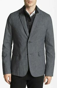 100% Authentic BNWT Burberry Casual Blazer With removable Quilted Insert Sz XL
