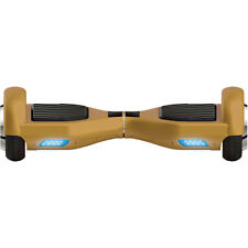 Self Balancing Horizontal Electric Scooter with Front LED Lights (Gold)