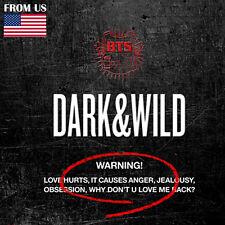 BTS KPOP BANGTAN BOYS 1st Album [DARK & WILD] Vol.1 CD + Photobook + Photocard