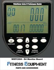 FITNESS REPAIR SPARE PARTS - WaterRower  S4 Monitor Electronic Faceplate WRPC004