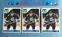 1985 O-Pee-Chee Topps #34 KEVIN DINEEN Rookie Lot x 3 RC | Hartford Whalers