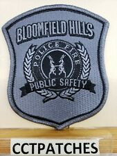 BLOOMFIELD HILLS, MICHIGAN PUBLIC SAFETY POLICE FIRE SUBDUED SHOULDER PATCH MI