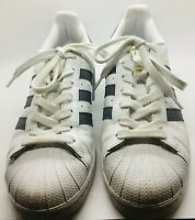 ADIDAS White Blue Size 8.5 Lace up Original Superstar Tennis Shoe Sneakers