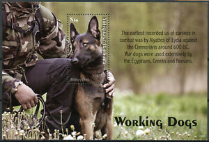 Antigua & Barbuda Working Dogs Stamps 2020 MNH Sled Guide Police Dog 1v S/S
