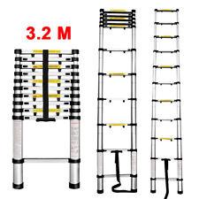 3.2M Aluminum Telescoping Ladder Multi-Purpose Extension Telescopic Ladder EN131