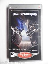 Transformers the game on sony psp game spiel gioco juego autobots complete action