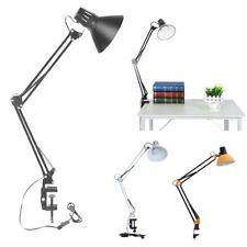 Swing Arm Desk lamp Architect Drafting Table Clamp On LED Light Adjustable Arm B