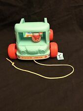 FISHER PRICE MILK WAGON PULL TOY WORKING BELL AND STURDY PULL STRING -NO BOTTLES