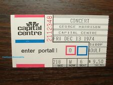 GEORGE HARRISON 1974 Concert Ticket Stub CAPITAL CENTRE D.C. Beatles MEGA RARE