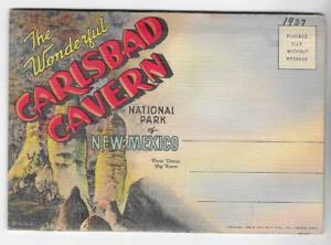 VINTAGE-POSTCARD FOLDER-CARLSBAD CAVERN NATIONAL PARK-NEW MEXICO