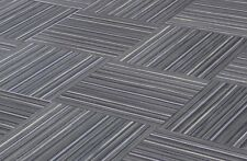 "CHILEWICH SMALL STRIPE SHALE 18"" X 18"" Woven Vinyl Tiles - (No Adhesive Residue)"