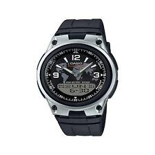 Casio Aw80-1a2v Combo Watch Databank Black Resin 3 Alarms 10 Year Battery