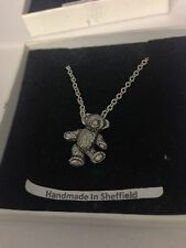 Chery Teddy PP-G74 Emblem Silver Platinum Plated Necklace 18""