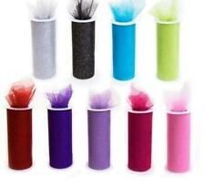 """Glitter Tulle Roll Spool 6""""x10yd, 30 Feet Tutu Netting, Wedding Gift, Craft, Bow"""