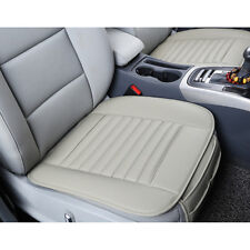 1pc PU Leather&Bamboo Charcoal Seat Cover Gray Car SUV Front Breathable Cushion