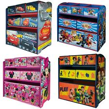 Disney 6 Drawer Wooden Toy Storage Shelf Organiser Children's Bedroom Play Room