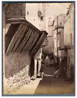 Algérie, Alger (الجزائر ), Kasbah  Vintage albumen print.  Tirage albuminé