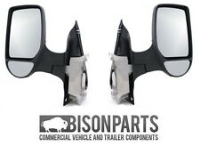 *Ford Transit Mk7 4/2006-> Door Wing Mirror Manual Black Pair LH & RH TRA347/348