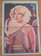 DEBBIE HARRY (Blondie) striped dress GIANT newsprint POSTER/ Pin Up 16x24 inches