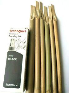 6 Pcs Handmade Bamboo Reed Pen For Calligraphy Writing (Arabic & Farsi)