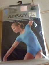 Girls Danskin Stretch Tech Nylon Short Sleeve Leotard Style 2905 BLUE LG