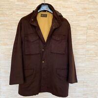 $4350 - LORO PIANA 100% CASHMERE STORM SYSTEM Coat Jacket - Dark Brown Size L