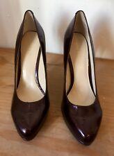 Nine West Dark Red High Heel Shoes Size 8W Usa Size Uk Size 7 BN