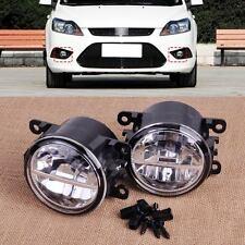 2x Left Right 12V LED Fog Light Lamp Fit For Ford Focus Honda Acura Jaguar 04-08