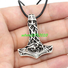 Men's Nordic Magick Viking Mjolnir Pendant Myth THOR'S HAMMER Necklace Chain