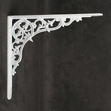 "10x9"" ANTIQUE CAST IRON VICTORIAN SHELF CISTERN BRACKET BLACK WHITE PEWTER BR29"