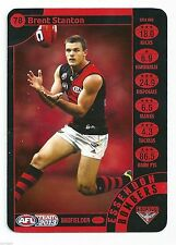 2013 BRENT STANTON ESSENDON NEW TEAMCOACH BOMBERS card