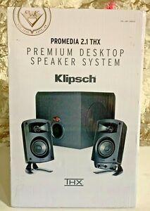 Klipsch ProMedia 2.1 THX Premium Desktop Computer Speaker System Gaming Sub