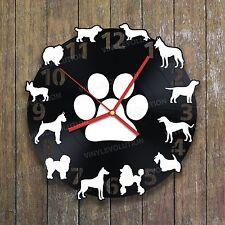 NEW DIY Dog Cat Wall Clock Decals Vinyl Art Wall Sticker Decal Mural Home Decor