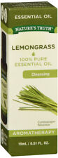 Nature's Truth Lemongrass Essential Oil Aromatherapy 100% Pure 0.51 Fluid Ounce
