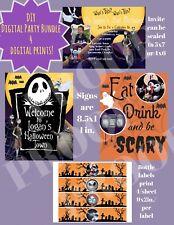 Nightmare Before Christmas Invitation-Digital PDF/JPG, DIY Party Bundle