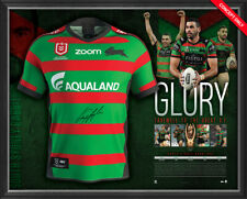 "Greg Inglis Signed ""GLORY"" South Sydney Rabbitohs Retirement Jersey Framed + COA"