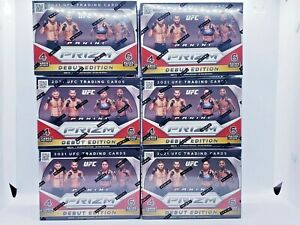 2021 Panini Prizm UFC Debut Edition Blaster Boxes 6 Total (6 Packs Per Blaster)