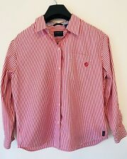 Liz Claiborne Lizsport Petite Sz Medium Long Sle Button Up Career Shirt Stripe