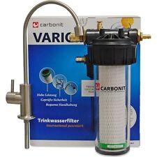 CARBONIT VARIO CLASSIC Wasserfilter + Einweg Wasserhahn Armatur WS 8