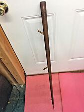 "MW2 Vintage folk art ice fishing rod wooden 34"" ice pick Pool stick 1 of a kind!"