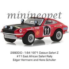 GREENLIGHT 29900 D 1971 DATSUN 240Z 1/64 #11 EAST AFRICAN SAFARI RALLY RED