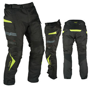 Motorcycle Trousers Waterproof Motorbike Textile Thermal Fluo Size 36
