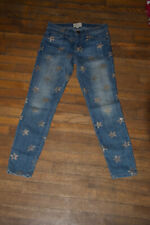 CURRENT/ELLIOT Gold Star Stiletto Skinny JEANS Womens Size 24-0 USED