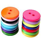 100Pcs 11MM Mix DIY 2 Holes Round Resin Buttons Scrapbooking Sewing Craft