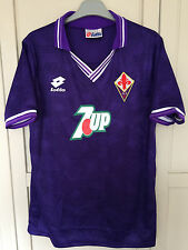 FIORENTINA 1992-93 BATISTUTA #9 Retrò Football Shirt Jersey Calcio Nuovo Grande
