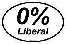 0% Liberal Political Pro-Trump Anti-Liberal NRA window sticker decal