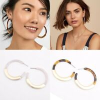 Fashion Women Round Circle Acrylic  Geometric Dangle Drop Earring Jewelry Gift