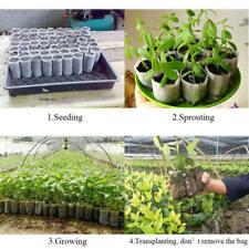 200tlg Pflanzbeutel Pflanzsack Blumentopf Anzuchttöpfe Zuchten Umweltfreundlich