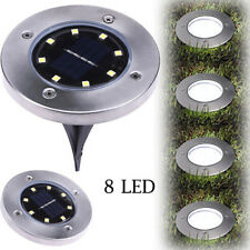 8 LED Solar Power Buried Light Ground Lamp Outdoor Path Way Garden Decking  AA